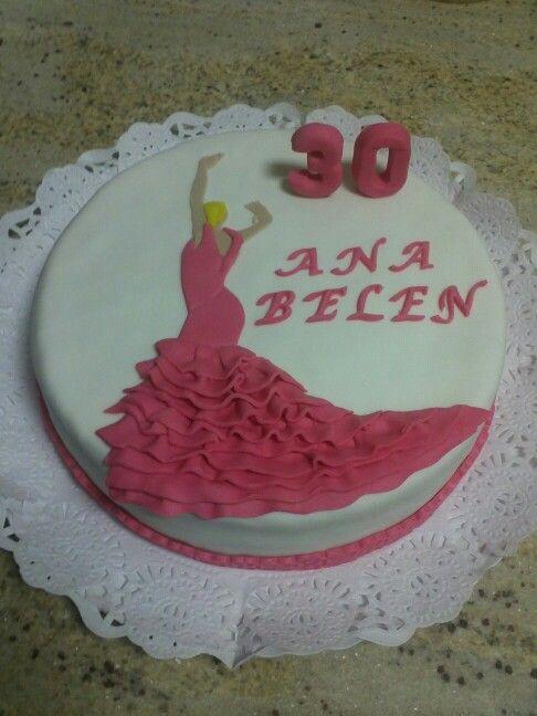 Tarta para el cumpleaños de una Flamenca!!