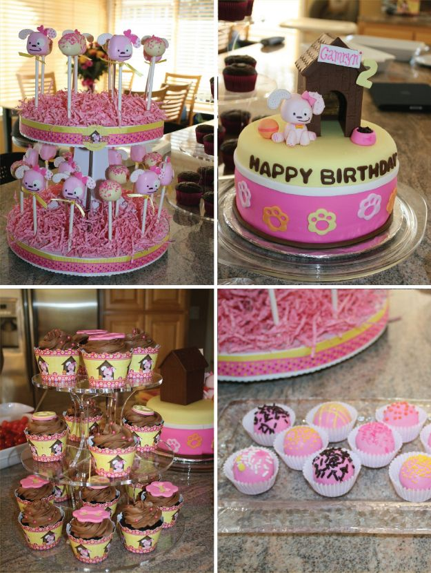 Puppy birthday party http://blog.bigdotofhappiness.com/2011/12/fun-birthday-party-ideas-featuring-pretty-pink-nails-and-girl-puppy-dog-tails/