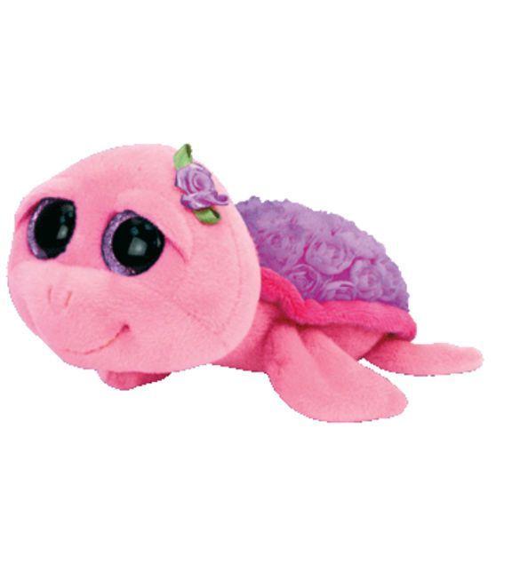 TY Beanie Boo Rosie Purple Rose Turtle