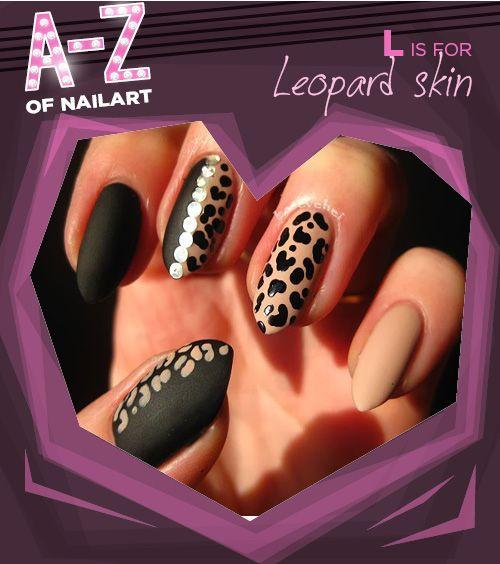 L is for Leopard skin. #A-ZNailArt