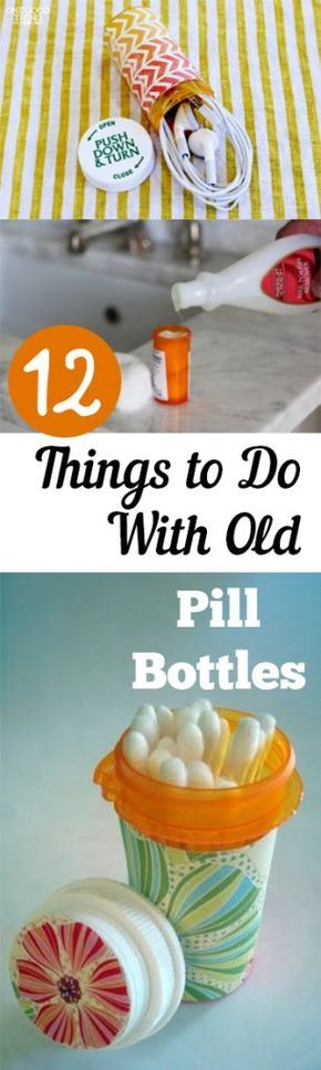 Things to Do With Old Pill Bottles, Old Pill Bottles, How to Reuse Old Pill Bottles, How to Recycle Old Pill Bottles, Repurpose Projects, Easy Repurpose Projects, Popular Pin