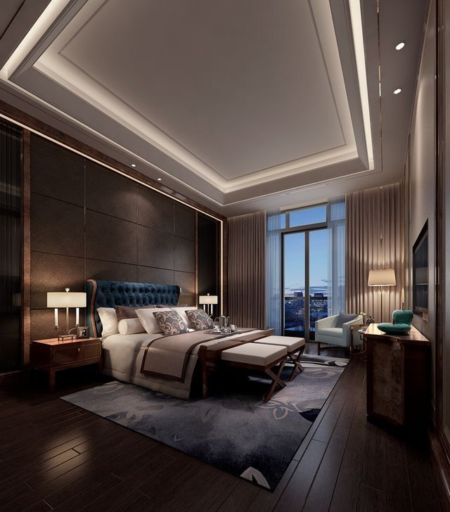 Glamorous and exciting bedroom decor. See more luxurious interior design details at luxxu.net