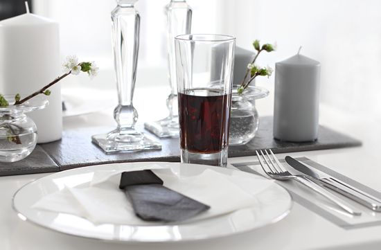 table setting, konfirmant