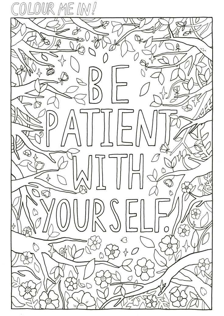 self care coloring page for my