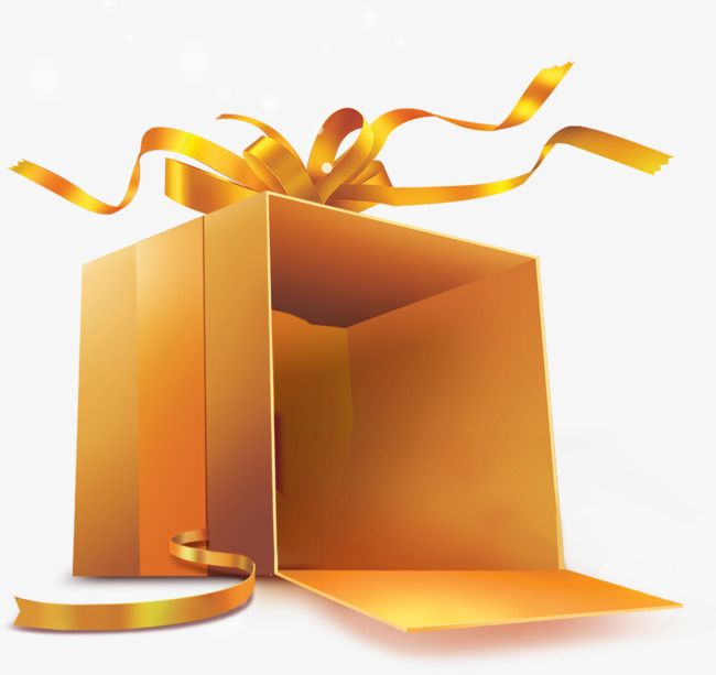 Golden Open Gift Box Gold Gift Boxes Gifts Clip Art
