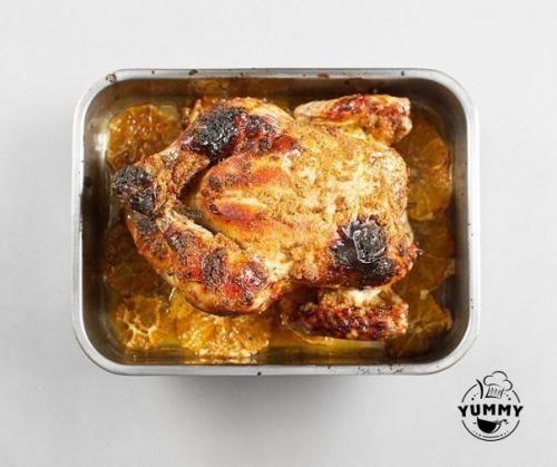 Курица, запеченная с имбирем и апельсинами. | Шедевры кулинарии