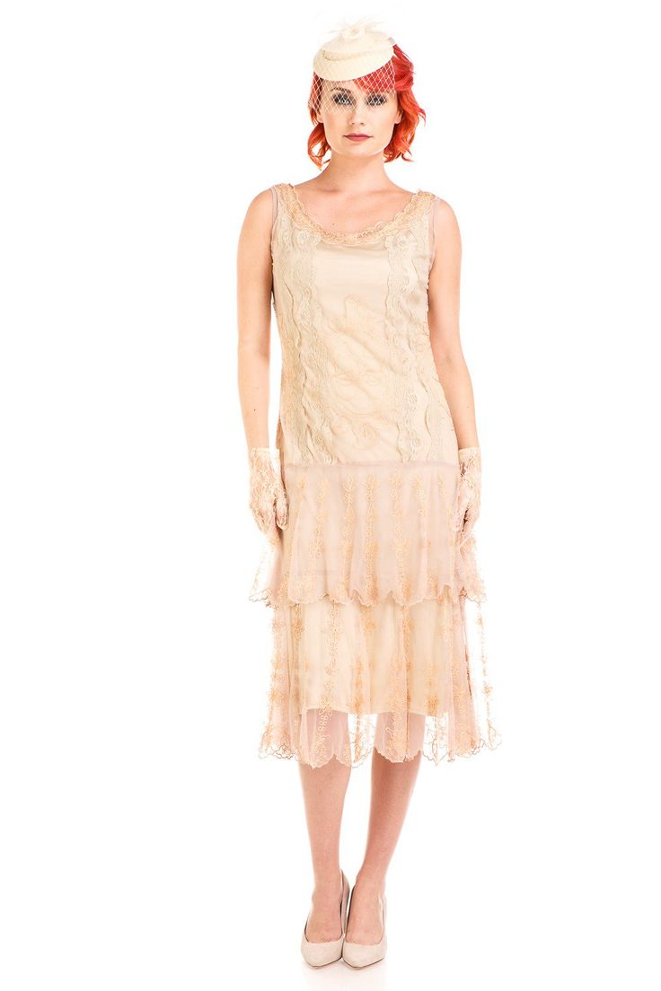 Vintage Cocktail Dresses, Party Dresses, Prom Dresses Eva 1920s Flapper Style Dress in Vintage by Nataya $254.00 AT vintagedancer.com