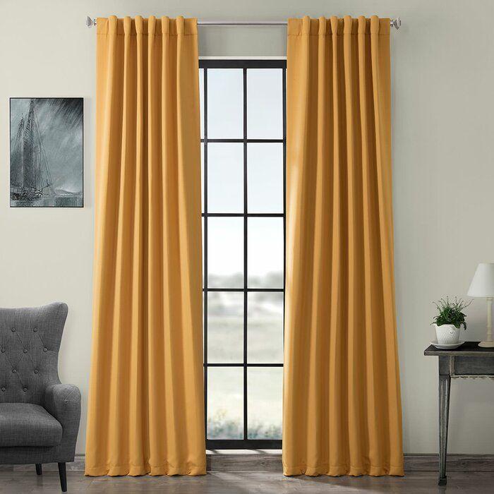Destinie Indoor Solid Color Blackout Curtain Rod P…