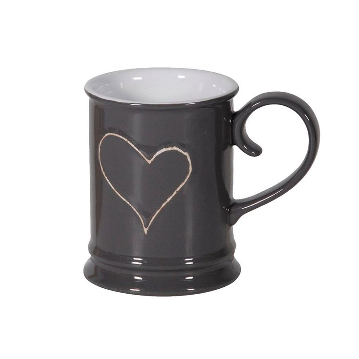 Scottie & Russell grey heart mug £5.99 Free delivery on orders over £25.00