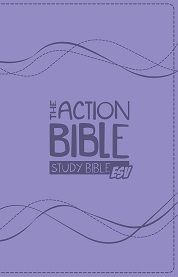 ESV Action Bible: Purple Leatherlike