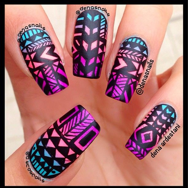 graphic pattern over an ombre...LOVE it!!