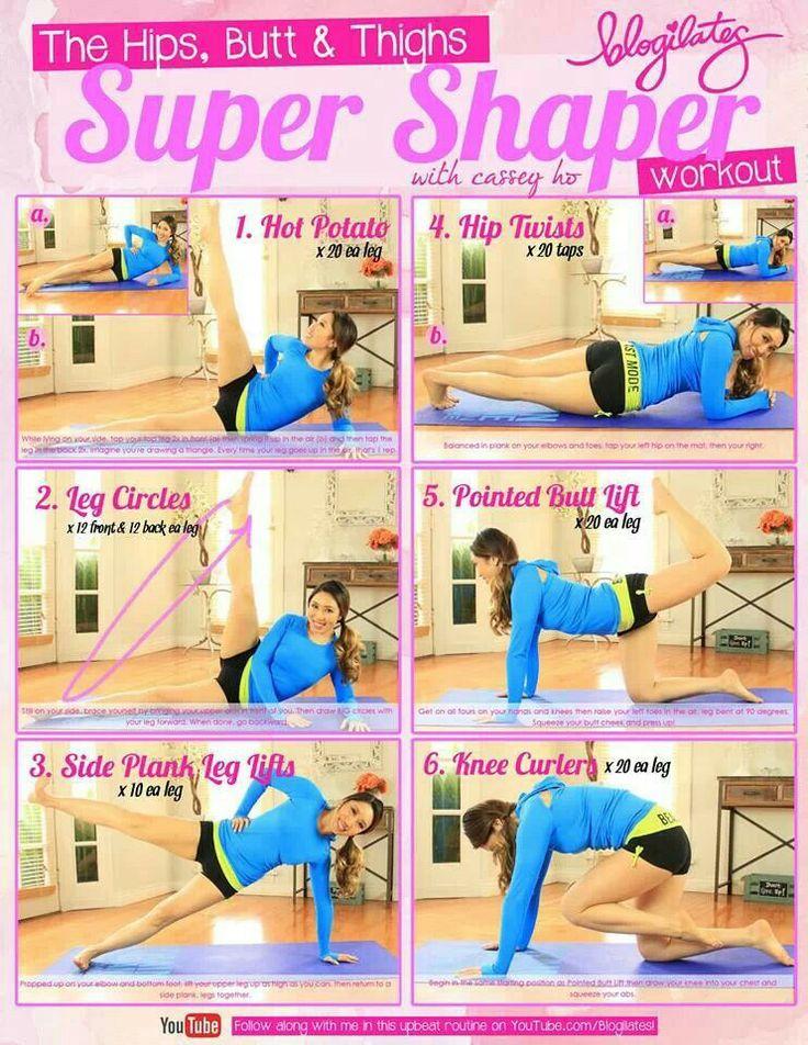Blogilates, hips, thighs + butt workout