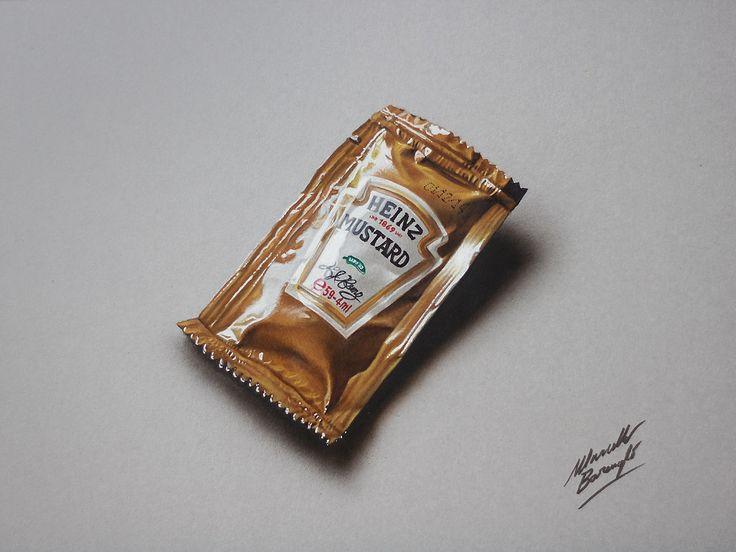 Drawing time lapse: Heinz Mustard Sachet by marcellobarenghi.deviantart.com on @deviantART