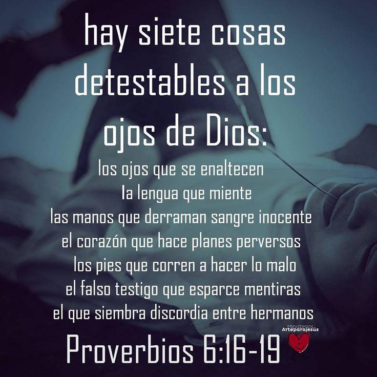 Proverbios 6:16-19