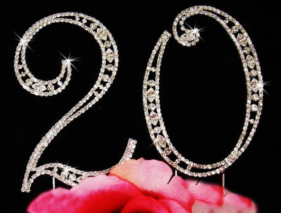 Diamond Cake Topper Numbers Rhinestone Cake by SparkleSoiree, $27.00