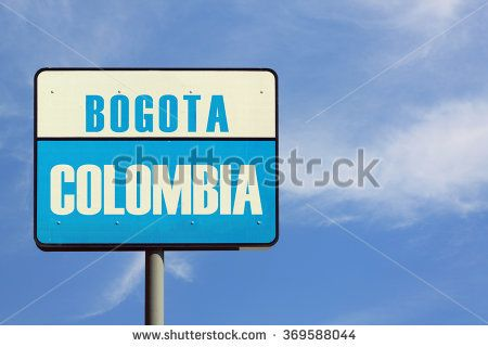 Bogota Colombia Sign