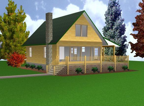images about Cottage plans on Pinterest   Floor Plans  Small    Cabin w Loft x Plans Package  Blueprints  amp  Material List