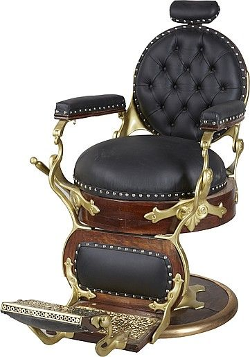 Antique Koken Round Seat Round Back Barber Chair. - by Morphy Auctions