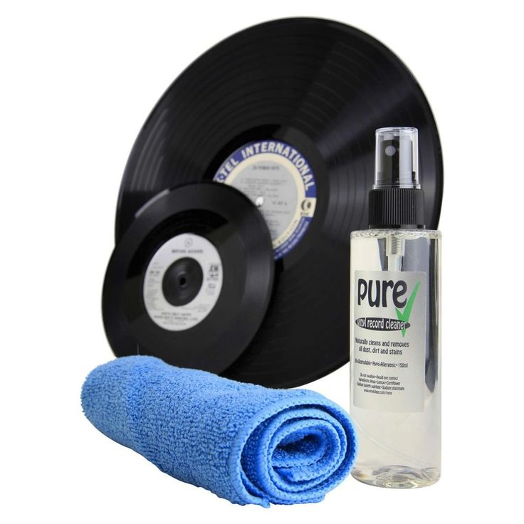 Pure Anti-static Vinyl Record LP Cleaning Solution and Microfibre Cleaning Cloth #Pure