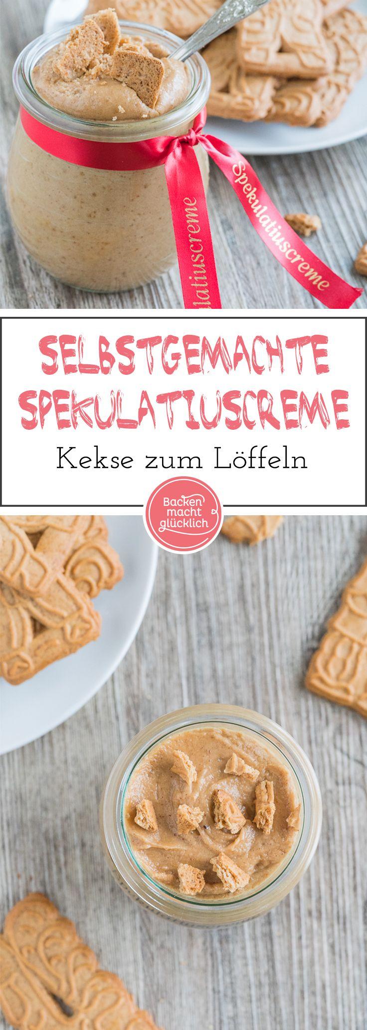 Anleitung für leckere selbstgemachte Spekulatiuscreme. Der süße Aufstrich (Kekscreme) ist schnell gemacht und lässt sich toll verschenken.
