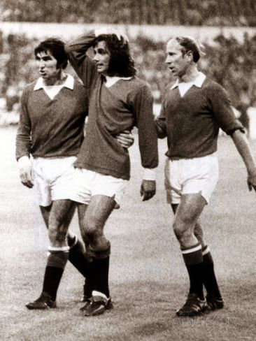 Manchester Uniteds George Best Consoled by Teammates Tony Dunne and Bobby Charlton Photographic Print - AllPosters.co.uk
