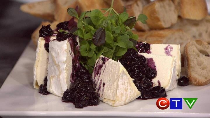 RECIPE: Sea Salt, Rosemary, Red Wine and BC Blueberry Compote over Agassiz Farmhouse Lady Jane cheese  By Chef Jeff Massey of Restaurant 62 in Abbotsford
