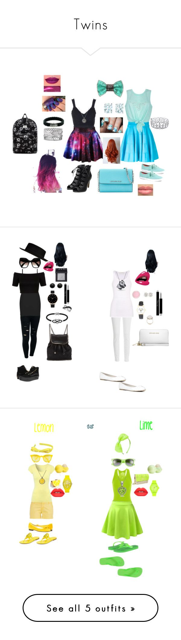 """""""Twins"""" by livvy210 ❤ liked on Polyvore featuring Topshop, Versace, Ally Fashion, Keds, Bijoux de Famille, Ice, John Hardy, Tiffany & Co., Express and OBEY Clothing"""