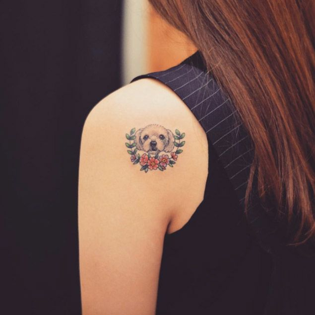 25 best ideas about puppy tattoo on pinterest pet tattoos dog tattoos and paw print tattoos. Black Bedroom Furniture Sets. Home Design Ideas
