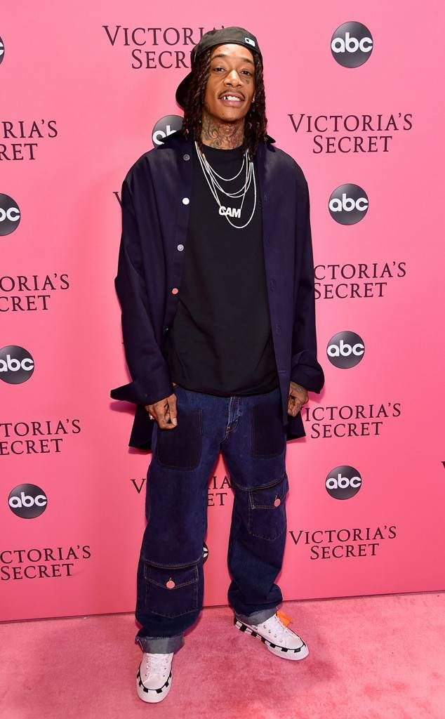 ff3230483af Wiz Khalifa from 2018 Victora's Secret Fashion Show: Red Carpet Fashion The  rapper steps out to support girlfriend Winnie Harlow at her first  Victoria's ...