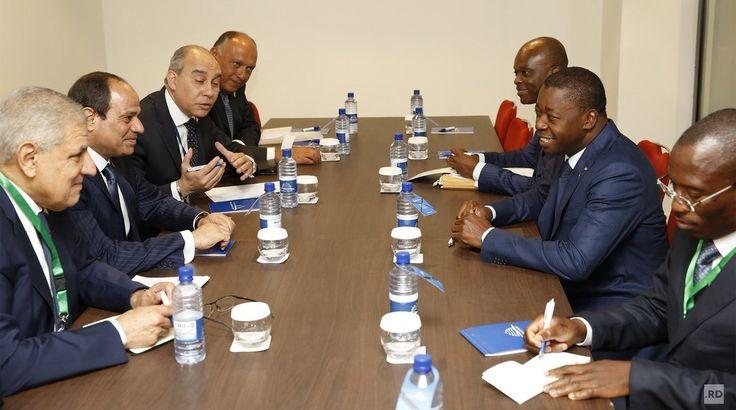 En marge du 27e Sommet de l'UA : Faure Gnassingbé rencontre Abdel Fattah Al-Sisi