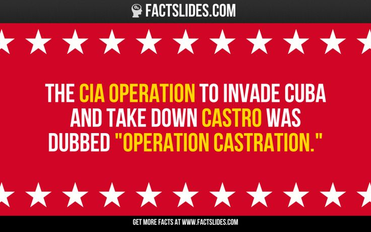 """The CIA operation to invade Cuba and take down Castro was dubbed """"Operation Castration."""""""