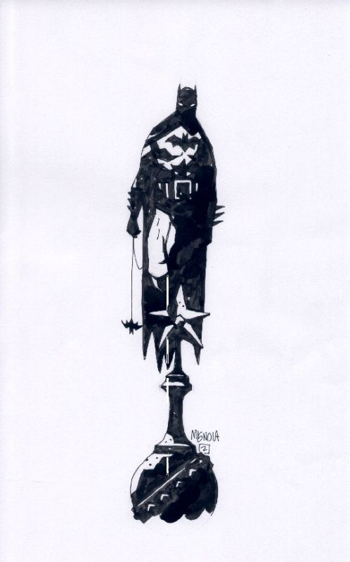 'Batman' by Mike Mignola (from: Batman Black and White Vol. 2)