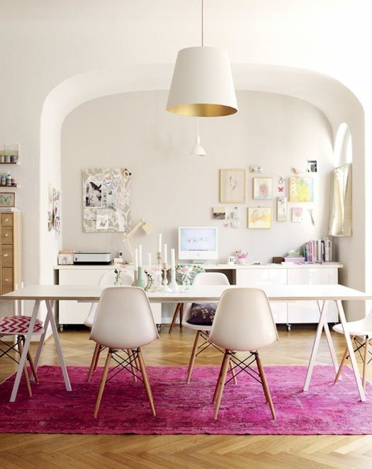 bright and happy. a work space that makes you want to work.