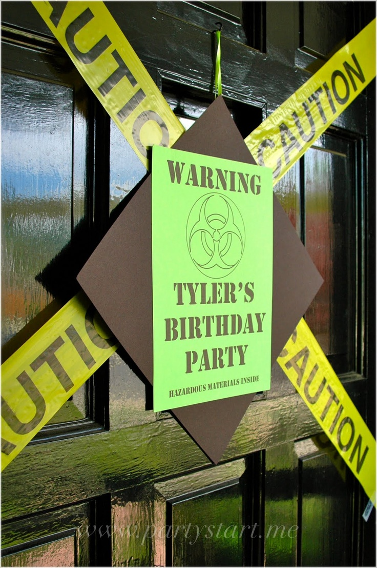 Birthday Party Door, would be cute for Colby's bday! :)