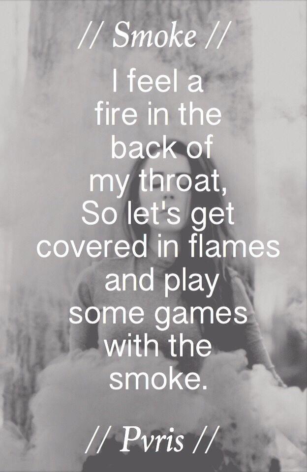 Pvris lyrics - smoke