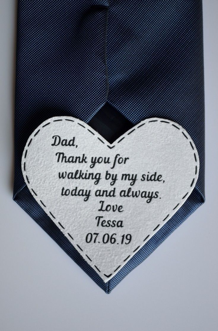 Father Of The Bride Tie Patch Wedding Gift For Dad From Bride Etsy Dad Wedding Gift Sentimental Wedding Gifts Daughter Wedding Gifts