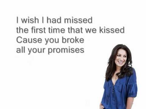 Jar of hearts - Glee (Lyrics) - YouTube
