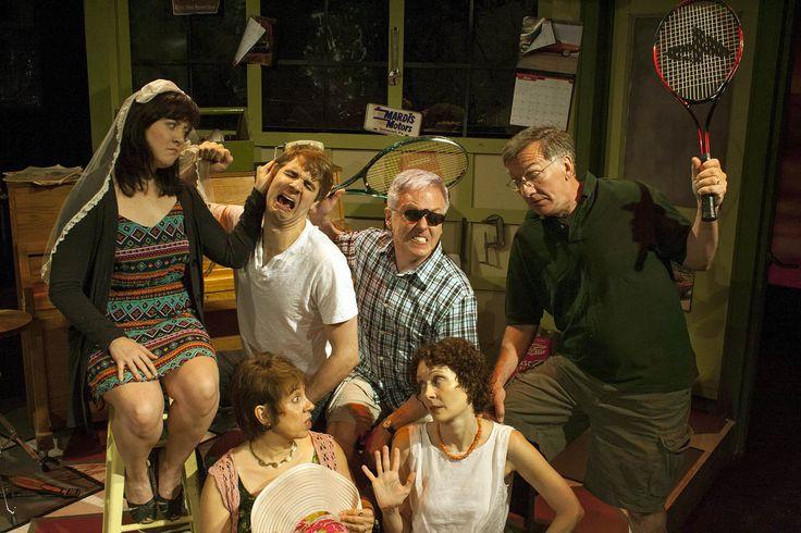 World Premiere of Neil Simon's Comic Suites July 2013  Cast included from bottom left: Celeste Mancinelli, Lisa Riegel, Caroline Shannon, Martin Landry, Joe Joyce and John Little.