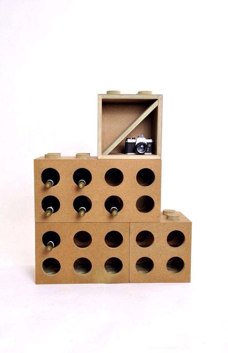 Oltre 25 fantastiche idee su portabottiglie vino su - Mattoni portabottiglie ...