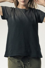 CROPPED TEE  Faded Black - Ragdoll LA