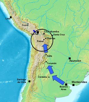 mapa del alto peru en 1810 - Buscar con Google