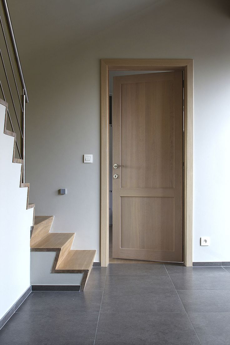 Moderne paneeldeur uit eik deuren haus bauen haus en bau - Porte interieur moderne ...