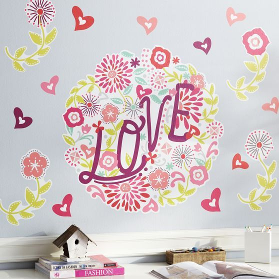 Teen Rooms With Wall Decals