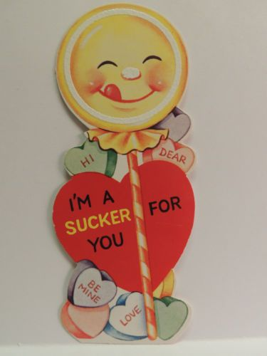 Vintage Valentine card decor