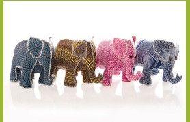 Shweshwe handmade elephants