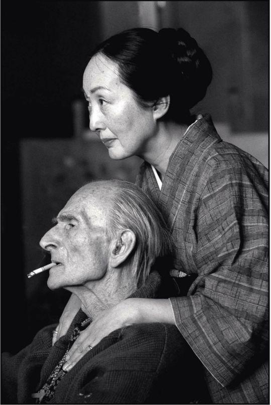 Balthus & Setsuko (ph. Henri Cartier-Bresson)