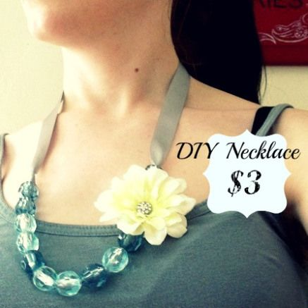 DIY ribbon necklace - would be super cute and super simple to turn into a lanyard for MOPS name tags!