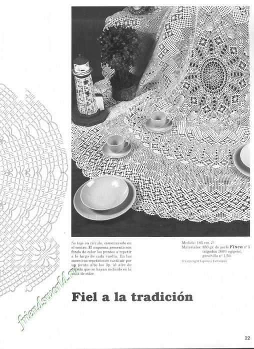 78 best Ganchillo images on Pinterest | Crocheting, Rugs and Tablecloths