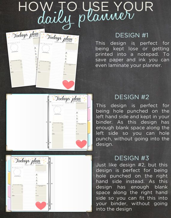 Daily Planner Printable Day Organizer A4 by IndigoPrintables
