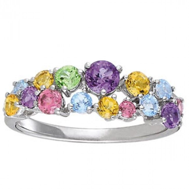 Engagement Rings With Multiple Colored Stones